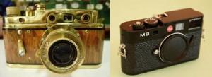 Con el advenimiento de la fotografía digital, Leica estableció un convenio con la empresa japonesa Panasonic, del grupo Matshushita, para producir cámaras fotográficas, con ópticas de gran calidad, suministradas por la firma alemana y equipamiento electrónico diseñado por la Panasonic. Estos equipos han tenido una gran aceptación  entre los consumidores. Foto: Laica antigua y Leica M9 18,5 megapíxeles cámara digital