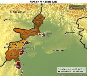 El control de Waziristán del Norte se divide entre las tribus señor de la guerra Hafiz Gul Bahadur y la facción del Talibán afgano Haqqani.