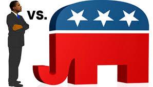 """los """"think thank"""" del Partido Republicano establecieron su estrategia de campaña política durante las elecciones de medio término en un solo mensaje en estados claves que ataban a los candidatos demócratas al presidente de la nación y sobre un solo objetivo: Barack H. Obama"""