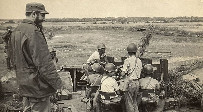 Fidel como siempre al frente de la defensa