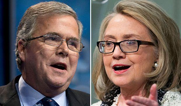 Jeb Bush y Hillary Clinton.