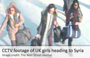 Las tres chicas, Kadiza Sultana, 16, Shamima Begum, de 15, y Amira Abase, también 15, cruzaron a territorio controlado por ISIS el 17 de febrero, después de haber viajado en avión desde Londres a Estambul.
