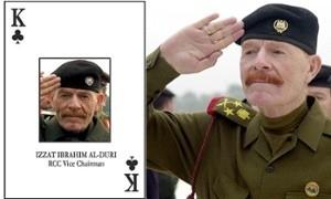 """Documentos secretos, de """"Alto Valor"""" ocupados en Alepo, Siria, al alto mando de ISIS, sitúan a Samir Abd Muhammad al-Khlifawi (c/p Haji Bakr) un general de inteligencia iraquí de origen sunní y político militar de Saddam Hussein —""""el rey de bastos"""" (la letra K) en el mazo de barajas hecha por los militares estadounidense para identificar a los colaboradores más cercanos de Saddam Hussein y quien fuera encarcelado desde el 2006 al 2008 en centros de detención de Estados Unidos, incluida la prisión de Abu Ghraib— como el arquitecto de una planificación meticulosa y técnicamente profesional similar a un proyecto de """"inteligencia de Estado"""" que diera origen al Modelo de Califato del Estado Islámico de Irak y Siria (ISIS) así como que la toma de control del norte de Siria como parte de un meticuloso plan supervisado por el propio Haji Bakr utilizando técnicas aprendidas en los Servicios Especiales de Saddam Hussein - incluyendo la vigilancia, inteligencia, reclutamiento, chantaje, asesinato y secuestro. Foto: Cortesía de AP"""
