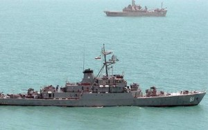 Un destructor iraní expulsa a un buque de guerra de EE.UU. del golfo de Adén