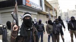 Terroristas desplegados en Siria.