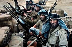 """El Wall Street Journal informó de lo que aparece ominosamente como preludio a Libia 2.0. El 2 de agosto, el diario británico Sunday Express publico un artículo  titulado Special Air Service (SAS) vestido de como combatientes """" yihadistas"""" de ISIS participan en la guerra encubierta contra Assad en Siria. Foto: Tropas del Servicio Especial Aerotransportado (Special Air Service - SAS) del Reino Unido, están sobre el terreno de Libia ayudando a los rebeldes libios a derrocar a Muamar Gadafi"""