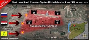 marines rusos entraron en combate por primera vez desde su despliegue en Siria, fuentes militares y de inteligencia de DEBKAfile lo revelan. La Brigada de Marina Rusa 810 luchó con el ejército sirio y las fuerzas especiales de Hezbolá en un ataque contra las fuerzas de ISIS contra la base aérea Kweiris, al este de Alepo.