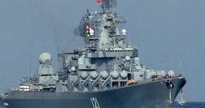 Moscú parece estar enviando un mensaje a Jerusalén completamente diferente: El viernes, 02 de octubre, el Ministerio de Defensa ruso anunció el despliegue sorpresivo de un crucero de la marina de guerra, el Moskva, armado con 64 misiles antiaéreos buques-aire del tipo S-300 misiles frente a la ciudad costera de Latakia, Siria. Foto: Crucero portamisiles Moskvá de la Flota rusa del Mar Negro