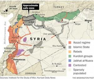 Turquía ha sido un miembro de la OTAN desde 1950, con una base aérea estadounidense situada en territorio turco en Incirlik desde hace casi tanto tiempo. Desde que comenzó la guerra en Siria en 2011, los EE.UU. han operado a lo largo de la frontera turco-siria. The New York Times y el propio Washington Post ha informado en numerosas ocasiones con respecto a las armas que la estadounidense Agencia Central de Inteligencia ha suministrado a los grupos militantes a través de esta misma frontera.