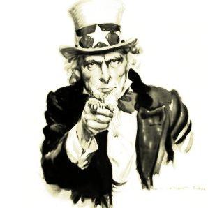 """el presidente estadounidense Woodrow Wilson con la creación, en abril de 1917, del Comité de Información Pública («Committee on Public Information»). Este órgano se hizo famoso utilizando miles de líderes locales –los llamados «Four Minute Men»– para que difundieran """"la verdad"""". También desarrolló la propaganda visual, que produjo el célebre cartel «I want you!»,"""