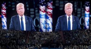 Los republicanos vieron una ventana 2016 para ganarse a los votantes judíos. Ahora ven Trump cerrándola. Foto: Donald Trump habla durante la conferencia política del Comité de Asuntos Públicos Estadounidense-Israelí de en el Verizon Center en Washington el 21 de marzo | Getty