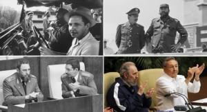 Fidel y Raúl Castro a través de las décadas.