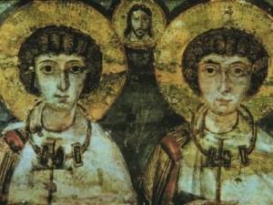 San Sergio (Sarkis en árabe) y san Baco son considerados en el Levante como ejemplos a seguir por los cristianos. Es el único caso de una pareja que haya sido canonizada, honor que no se ha concedido a ninguna pareja unida por lazos matrimoniales.