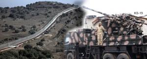 las fuerzas de Hezbollah alcanzan Quneitra 2 km de la frontera Golán de Israel con autopropulsados KS-19 baterías de artillería. Su gama - 21 kilometros, la capacidad de disparar - 15 proyectiles por minuto. 7 Sep, 2016, 11:47 (IDT)