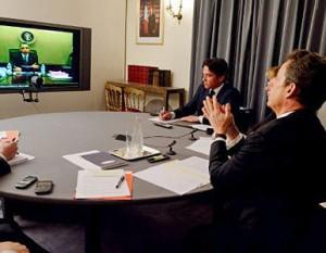 """""""Los presidentes han instado al régimen sirio a cumplir con las obligaciones dictadas por el enviado especial para Siria de la ONU y la Liga Árabe, Kofi Annan, claramente y sin condiciones"""""""