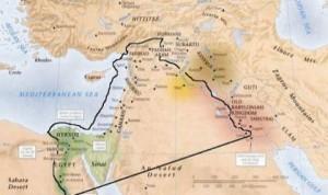Hace treinta años, los estrategas estadounidenses introdujeron la idea de «El Gran Oriente Medio», que denota el espacio del Magreb a Bangladesh, y declararon este vasto territorio para ser una zona de intereses prioritarios de Estados Unidos. En 2006, el programa de la dominación estadounidense en la región se ha renovado y se define más concretamente: el entonces Secretario de Estado de EE.UU., Condoleezza Rice, introdujo el término «El nuevo Oriente Medio», destaca un plan para volver a trazar las fronteras de Oriente Medio desde Libia a Siria , Iraq, Irán e incluso Afganistán.