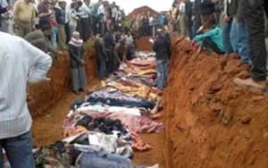 """El arzobispo Boutros Selwanos Alnemeh dijo: """" Lo que pasó en Sadad es la masacre más grave y más grande de los cristianos en Siria en los últimos dos años y medio ... 45 civiles inocentes fueron martirizados por ninguna razón, y entre ellos varias mujeres y niños, muchos arrojados en fosas comunes."""" Otros civiles fueron amenazados y aterrorizados. 30 personas resultaron heridas y 10 desaparecidas."""