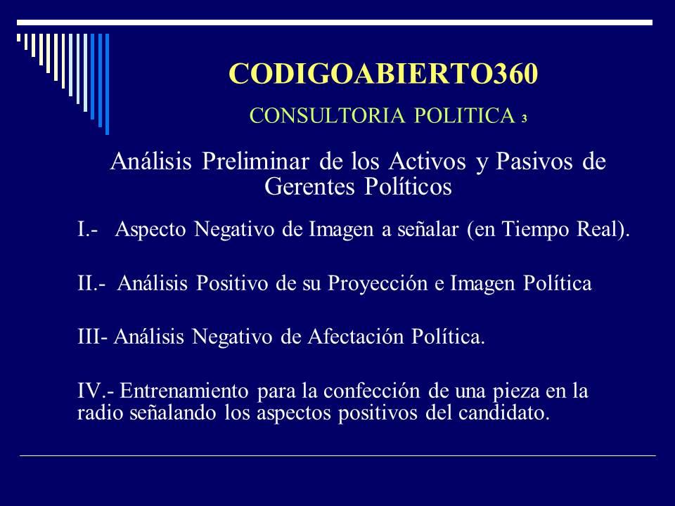 CONSULTORIA POLITICA II