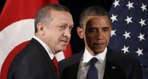 """Luego de una larga luna de miel —entre el presidente Brack Obama y Recep Tayyip Erdoğan, primer ministro de Turquía,— en el apoyo en armas y municiones a los rebeldes sirios, entre estos a los de las organizaciones terroristas: Estado Islámico de Irak y el Levante (EIIL) y del Frente Al-Nusra, ramas de Al Qaeda, ¿por qué Obama lejos de ejecutar la supuesta violación de la """"línea roja"""" por Bashar Al-Saddad, en Goutha, se distanció del gobierno turco?"""