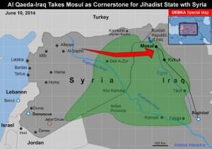 Con la captura de Mosul, Bakr Al-Baghdadi, comandante de ISIS, habrá dado un salto volando hacia su objetivo declarado de establecer un Estado Islámico independiente en el corazón del Oriente Medio. Ningún ejército ha sido capaz o está dispuesto a detener su avance constante, incluyendo los Estados Unidos, a pesar de que su Estado presentara una amenaza directa a la Arabia Saudita, Jordania, Turquía e Israel.