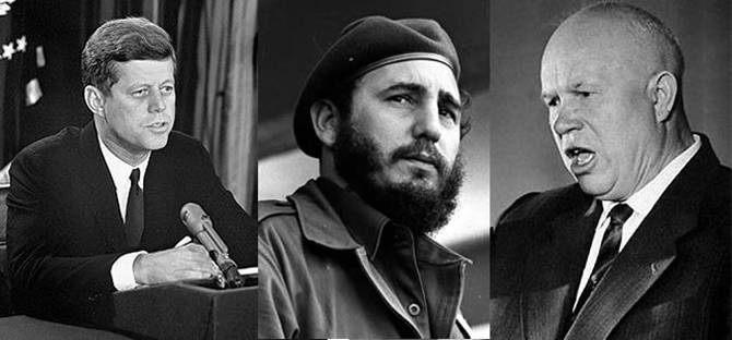 Kennedy, Fidel y Nikita Khrushchev, los protagonistas.
