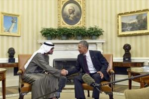 El presidente ya se reunió con un alto dirigente de los Emiratos Árabes Unidos, el jeque Mohammed bin Zayed.