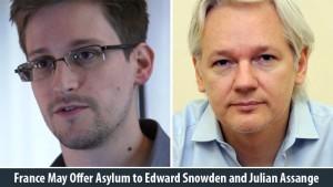 Los líderes de todos los lados del espectro político francés instaron al gobierno francés el jueves ofrecer asilo político, e incluso la ciudadanía francesa, a Julian Assange, fundador de WikiLeaks y al estadounidense Edward Snowden, desertor de la NSA.