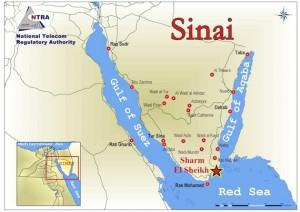 Afiliados al Estado Islámico (ISIS) en el Sinaí y Libia se han unido con los gobernantes palestinos de Hamas de la Franja de Gaza para los objetivos comunes de la captura norte del Sinaí ocupado por el ejército egipcio. Foto: Mapa del Sinaí.