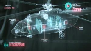 el Richag-AV es capaz de llevar a cabo recolección de información de inteligencia basada en radar, que implica el hallazgo de fuentes de radiación electromagnética.