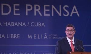 Bruno Rodríguez Parrilla, Canciller cubano, ofrece conferencia de prensa en La Habana. Foto: Ismael Francisco/ Cubadebate