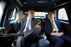 Obama y el primer ministro japonés, Shinzo Abe, en Washington, DC, abril de 2015 (Pete Souza / Casa Blanca)