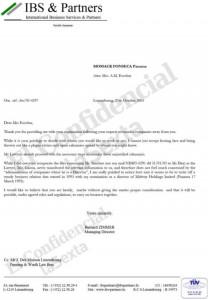 Documento de IBS relacionado con el espía Paesa.