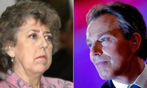 """La queja del jefe del MI5 sobre el papel del MI6  en la """"guerra contra el terror"""" referente a los secuestros y entregas  causó ruptura prolongada en sus relaciones. Foto: Eliza Manningham-Buller (MI5) y Tony Blair (Primer Ministro) en 2006."""