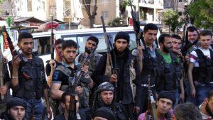 """Miembros del Ejército Libre de Siria, considerado también por Estados Unidos """"oposición moderada"""""""