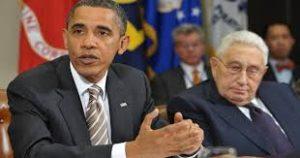 """En el 2009, Barack H. Obama fue encargado por Henry Kissinger, operador clave de la Triada de la Criptocracia (Gobierno en la sombra o Gobierno invisible compuesto por los Cabilderos o Lobbista, los Grandes intereses económicos, financieros: Bancarios, Wall Street, etc. etc…) y los Medios Corporativos de crear un """"Nuevo Orden Mundial"""""""
