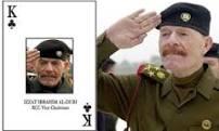 """Samir Abd Muhammad al-Khlifawi (c/p Haji Bakr o """"El Señor de las Sombras"""") un Coronel de inteligencia y político militar de Saddam Hussein fue el arquitecto del Estado Islámico de Irak y Siria (ISIS). Documentos secretos, de """"Alto Valor de Inteligencia"""" ocupados en Alepo, Siria, al alto mando de ISIS, sitúan a Samir Abd Muhammad al-Khlifawi (c/p Haji Bakr o """"El Señor de las Sombras"""") un general de inteligencia iraquí de origen sunní y político militar de Saddam Hussein —""""el rey de bastos"""" (la letra K) en el mazo de barajas hecha por los militares estadounidense para identificar a los colaboradores más cercanos de Saddam Hussein como el arquitecto de una planificación meticulosa y técnicamente profesional similar a un proyecto de """"Inteligencia de Estado"""" que diera origen al Modelo de Califato del Estado Islámico de Irak y Siria (ISIS) así como a la toma de control del norte de Siria como parte de un meticuloso plan supervisado por el propio Haji Bakr utilizando técnicas aprendidas en los Servicios Especiales de Saddam Hussein – incluyendo la vigilancia, inteligencia, reclutamiento, chantaje, asesinato y secuestro. Samir Abd Muhammad al-Khlifawi estuvo preso desde el 2006 al 2008 en centros de detención de Estados Unidos, incluida la prisión de Abu Ghraib—donde eran encarcelados hombres que tal vez fueran extremistas cuando entraron en prisión, pero de seguro sí lo eran cuando salieron de ellas— Foto: Cortesía de AP"""